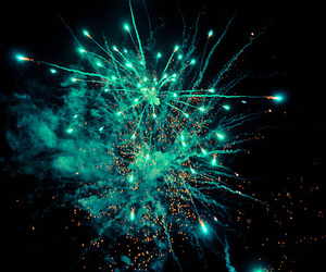 fireworks, blue, and photography image
