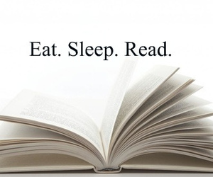 book, eat, and read image