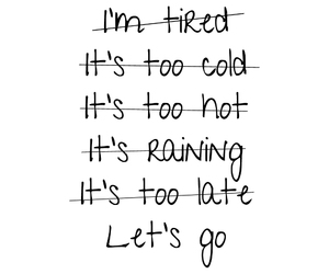 excuses and let's go image