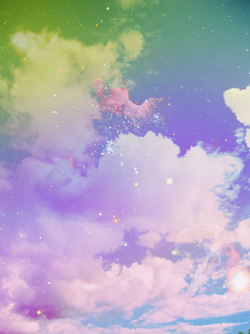 sky, clouds, and galaxy image