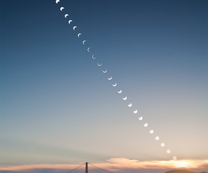 moon, sky, and bridge image