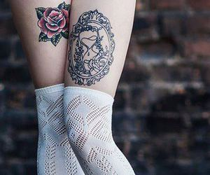 tattoo, ink, and legs image