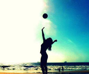volleyball, beach, and summer image