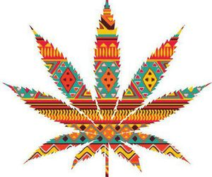 kush, leaf, and tribal image