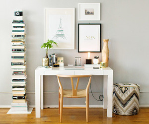 home office, interior design, and workroom image