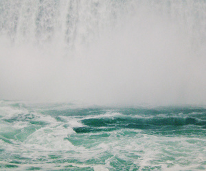 water, waterfall, and blue image