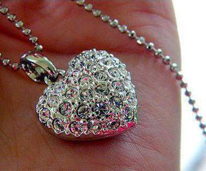 heart, necklace, and diamond image