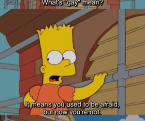 funny, simpsons, and gay image