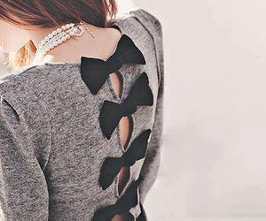 fashion, bow, and dress image