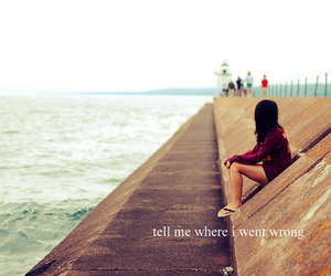 girl, place, and text image