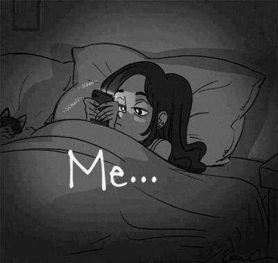 me, night, and phone image