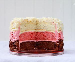 cake, chocolate, and vanilla image