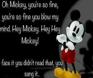funny, mickey, and song image