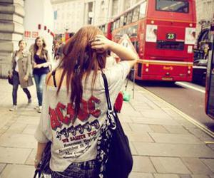 girl, ACDC, and london image