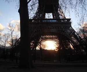 eiffel tower, paris, and vintage image