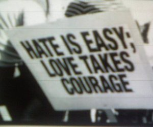 love, hate, and courage image