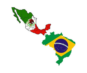 brasil and mexico image