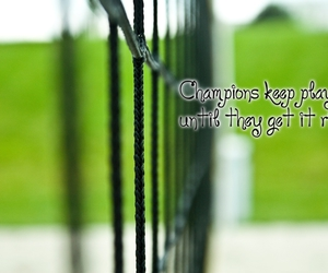 champion, green, and volleyball image