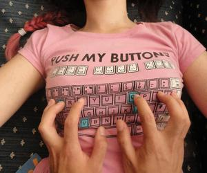 push my buttons, tee boobs, and tits :@ image