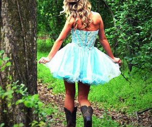 dress, girl, and boots image