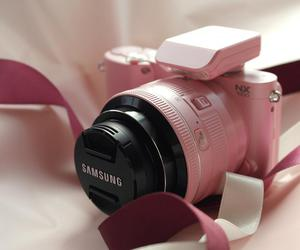 camera, pink, and samsung image