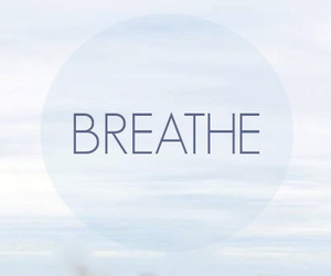 breathe, blue, and quote image