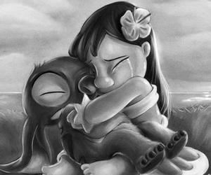 adorable, stitch, and cry image