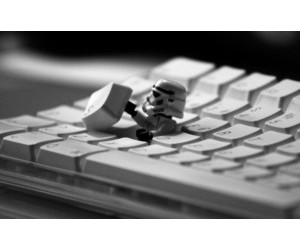 black and white, star wars, and funny image