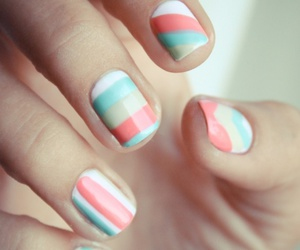 nails, nail art, and pastel image
