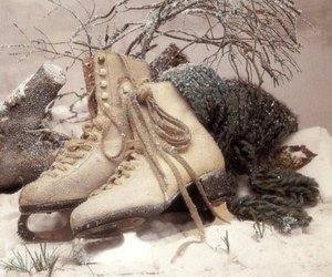 snow, winter, and ice skates image