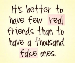 friends, fake, and life image