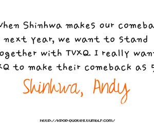 andy, tvxq, and quote image
