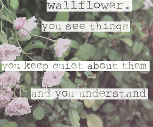 quote, wallflower, and understand image