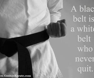 giving up, inspirational, and karate image
