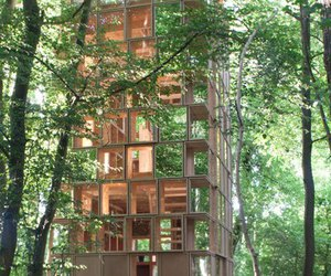architecture, forest, and Timber image