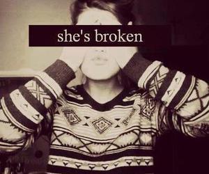 broken, girl, and sad image