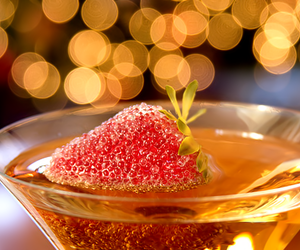 strawberry, drink, and champagne image