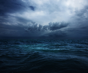 clouds, ocean, and storm image