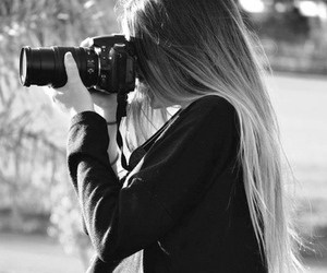 black and white, girl, and perfection image