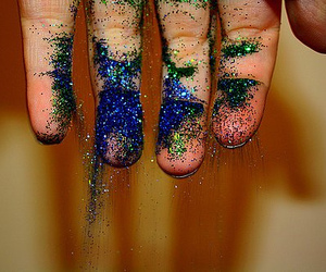glitter and hand image