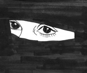 eyes, pale, and art image