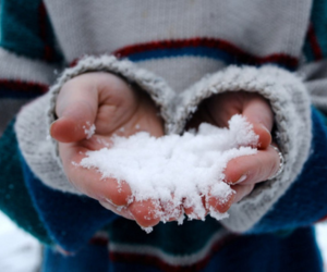 snow, winter, and hands image