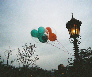 balloons, nature, and light image