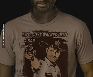 t-shirt, tee, and the walking dead image