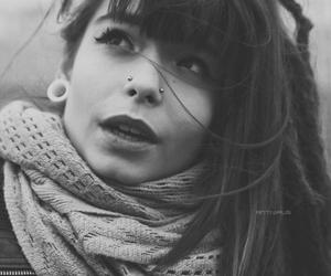 black and white, girl, and dreadlocks image