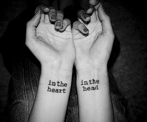 tattoo, heart, and head image