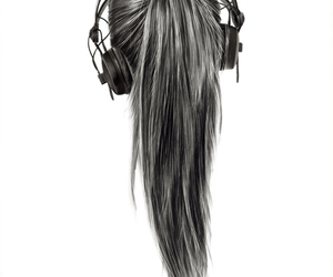 cool, headset, and hair image