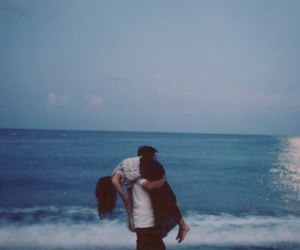 love, couple, and sea image