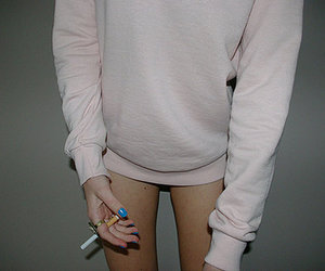 cigarette, nails, and smoking image