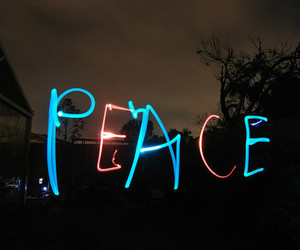 peace, light, and blue image
